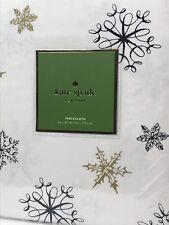 "Kate Spade New York Snowflakes Tablecloth 60"" x 84"" NWT"