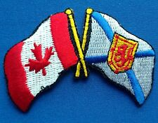 Canada / Nova Scotia Flag Patch Embroidered Iron On Applique