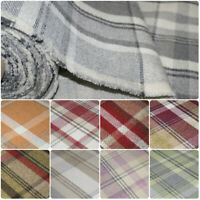 Premium Balmoral Thick Wool Effect Tartan Upholstery Curtain Fabric Plaid Fabric