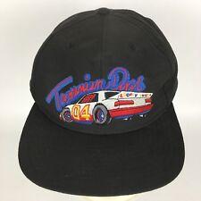 Tazmanian Devil Nascar Racing Hat Snapback Trucker Cap Black Looney Tunes VTG