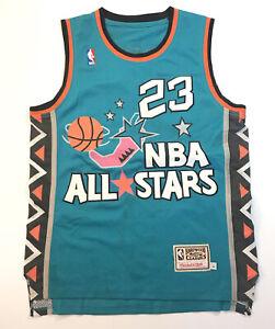 Vintage Michael Jordan Jersey 1996 All Star Game Teal 23 Throw Back NBA West L