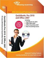 Learn QuickBooks Pro/Premier 2010 Tutorial CD Bundle with Office 2007