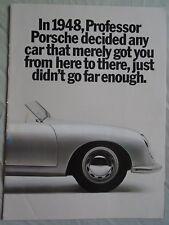 FOLLETO de rango de Porsche 1985 mercado de Estados Unidos