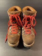 Vtg Norseman Mens 9D Roughout Leather Hiking Mountaineering Boot Vibram Lug Sole
