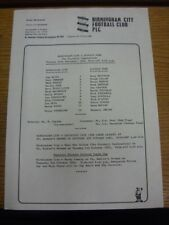 27/09/1983 Birmingham City Reserves v Ipswich Town Reserves  (single sheet, fold