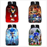 Sonic The Hedgehog Boys Girls School Backpack Rucksack Children Kid's Sport Bags
