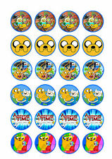 24 x Adventure Time Cup Cake Toppers ICING
