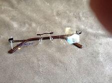 NEW Flexon Frames less eyeglass frames Dark Chocolate Metal frame  457 Marchon