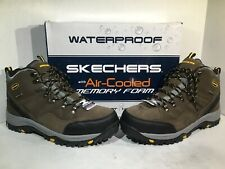 Skechers Mens Size 13 Relment Pelmo Khaki Waterproof Hiking Trail Boots F13-39