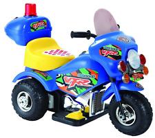 Moto Elettrica per Bambini Mini Moto Baby Cops 6V Tre Ruote Triciclo Blu