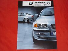 BMW 3er E46 Limousine Touring Coupe Cabrio Neuheiten 330i Prospekt von 2000