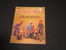 DINAH-MITE Paper MOD Doll Set Uncut Original Cut-Outs Motorcycle (k327)