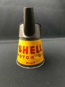 SHELL MOTOR OIL CLAM PINT MEASURE POURER GARAGE ADVERTISING PETROL CAN