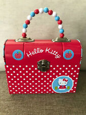 Hello Kitty Tin Purse Lunchbox Beaded Handle Red with Apples
