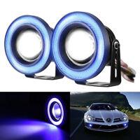 "2Pack 2.5"" COB LED Fog Light Projector Car Blue Angel Eyes Halo Ring DRL Lamp HY"