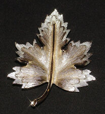 SARAH COVENTRY Gold & Silver MAPLE LEAF Brooch/Pin!!