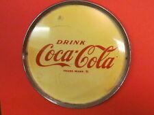 Vintage Drink Coca Cola Vending Machine  Coke Sign Soda Emblem / Chrome Rim