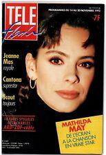 ▬►Télé Flash 1307 (1992) MATHILDA MAY_JEANNE MAS_MOUSTAKI_FRANÇOISE HARDY_K.WITT