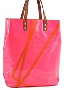 Louis Vuitton Vernis Fluo Reade MM Robert Wilson Hand Bag Pink M91900 LV C7732