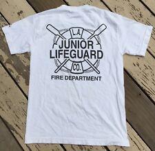 LA COUNTY Junior LIFEGUARD Company / Fire Department • Men's IZOD T-Shirt SMALL
