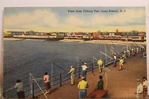 New Jersey NJ Long Branch Fishing Pier Postcard Old Vintage Card View Standard
