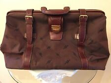 Leather & Canvas Gladstone Doctor Bag / Travel Bag / Briefcase - Made In Italy