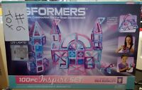 New Magformers 100 Pc Inspire Magnetic Construction Set w/ LED Lights 63212