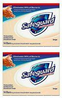 2 X 14 BAR = 28 Safeguard BEIGE Antibacterial Deodorant Bar Soap Men Women 4 oz.