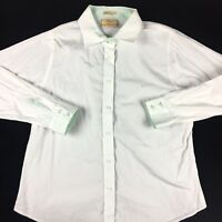 R.M. Williams Women's Long Sleeve White Cotton Button Up Shirt Blouse Size 16