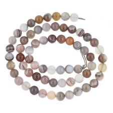 "15.75""  Botswana Agate Round Beads 6mm Grade A #54021"