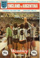 1980 (May 13) Soccer program, Football International England vs. Argentina