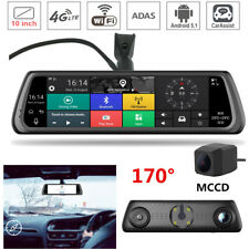 IPS Special Touch 4G Car Dual Camera Android Mirror GPS Bluetooth WIFI ADAS DVR