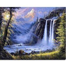 Waterfall Needlework Square Diamond Painting Diy Cross Stitch Embroidery Home