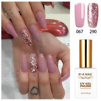 RS NAIL UV LED Gel Nail Polish Varnish Soak Off Pink Glitter Colour 067+290 15ml