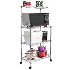 3 Tier Kitchen Baker's Rack Utility Microwave Oven Stand Storage Shelf Cart