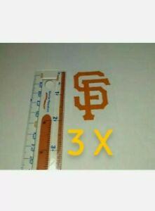 San Francisco Giants Helmet Decals Orange 2x1.5 for MLB batting Helmet 3X