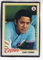 1978  TONY PEREZ - Topps Baseball Card # 15 - MONTREAL EXPOS - Vintage