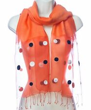 Autumn Flame Silk Wool Hand Loomed Scarf  (HES-12) Blue Star Intl