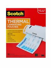 """100 Pack Scotch Thermal Laminating Pouches Count Paper Sheet Letter Size NEW"""