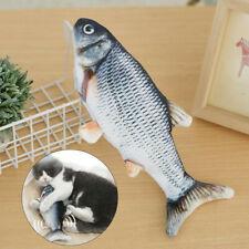 Wackelkatze Elektrische Katzenminze Plüschsimulation Katzenfischspielzeug