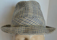 3a4c9f0024a VTG Knox New York Fedora Men 7 1 4 Plaid Wool Hat HIPSTER GANGSTER Retro