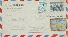 DOMINIKANISCHE REPUBLIK 1948, 10 C Landkarte m. Zusatzfrank. selt. MiF NÜRNBERG