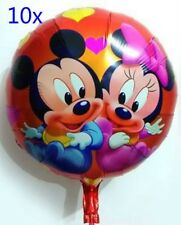 5 X Cartoon Foil Balloon Mickey Mouse Birthday Party Decoration Round 45cm