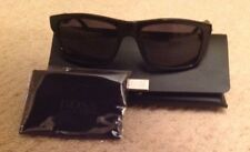 Hugo Boss Slate Blue Rectangle Frame Textured Arm Sunglasses RRP £150