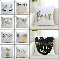 """18""""x18"""" Linen Cotton Vintage Throw Bed Pillow Case Cushion Cover  Sofa Car Decor"""
