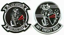 TOMCAT F-14 FIGHTER SQN USN VF-154 BLACK KNIGHTS F-14 iron-on 2-INSIGNIA SET