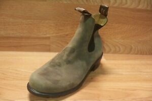 Blundstone Antique Brown Leather Heeled Boots Women's Sz Uk5.5-8.5{Hs-40]