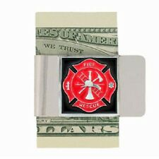 Fire & Rescue Stainless Steel Money Clip