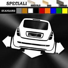 adesivo sticker LANCIA YPSILON elefantino tuning down-out prespaziato,decal auto