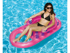 LUXURY Solstice by Swimline French Pool Float Lounge with Dual Drink Holders